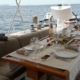 Luxury charter sailing yacht food Noheea